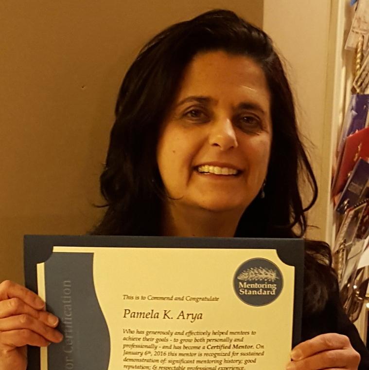 Pamela Arya, Certified Mentor