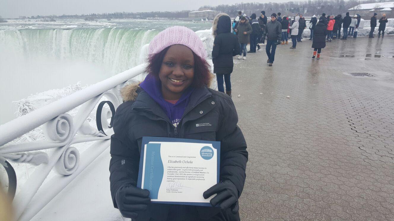 Elizabeth Ochola, Niagara Falls Canada, February 2016