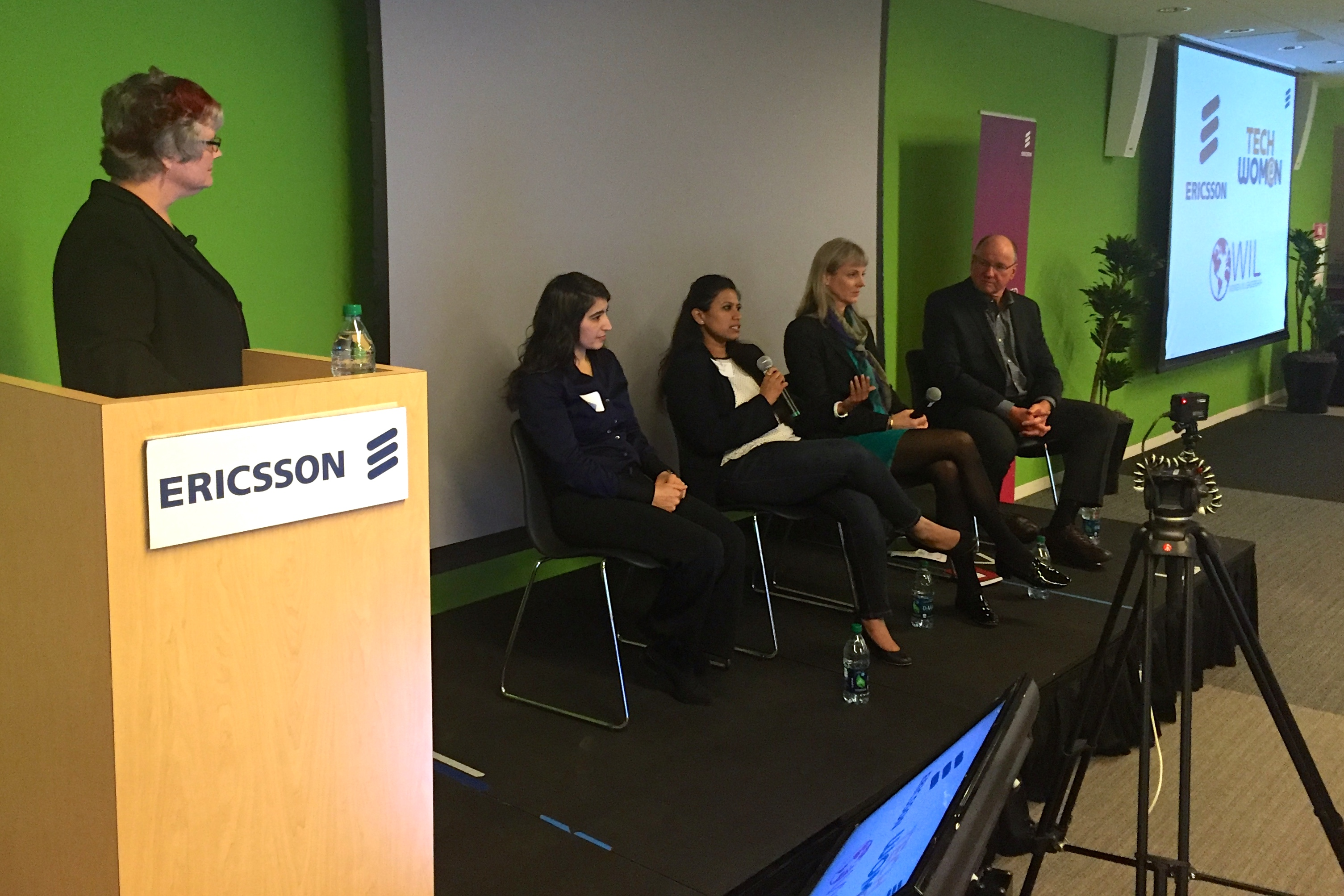 Katy Dickinson, TechWomen Alumnae Council Panel on Best Mentoring Practices, at Ericsson, March 2016
