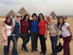 Katy Dickinson with TechWomen Giza Egypt Feb 2018