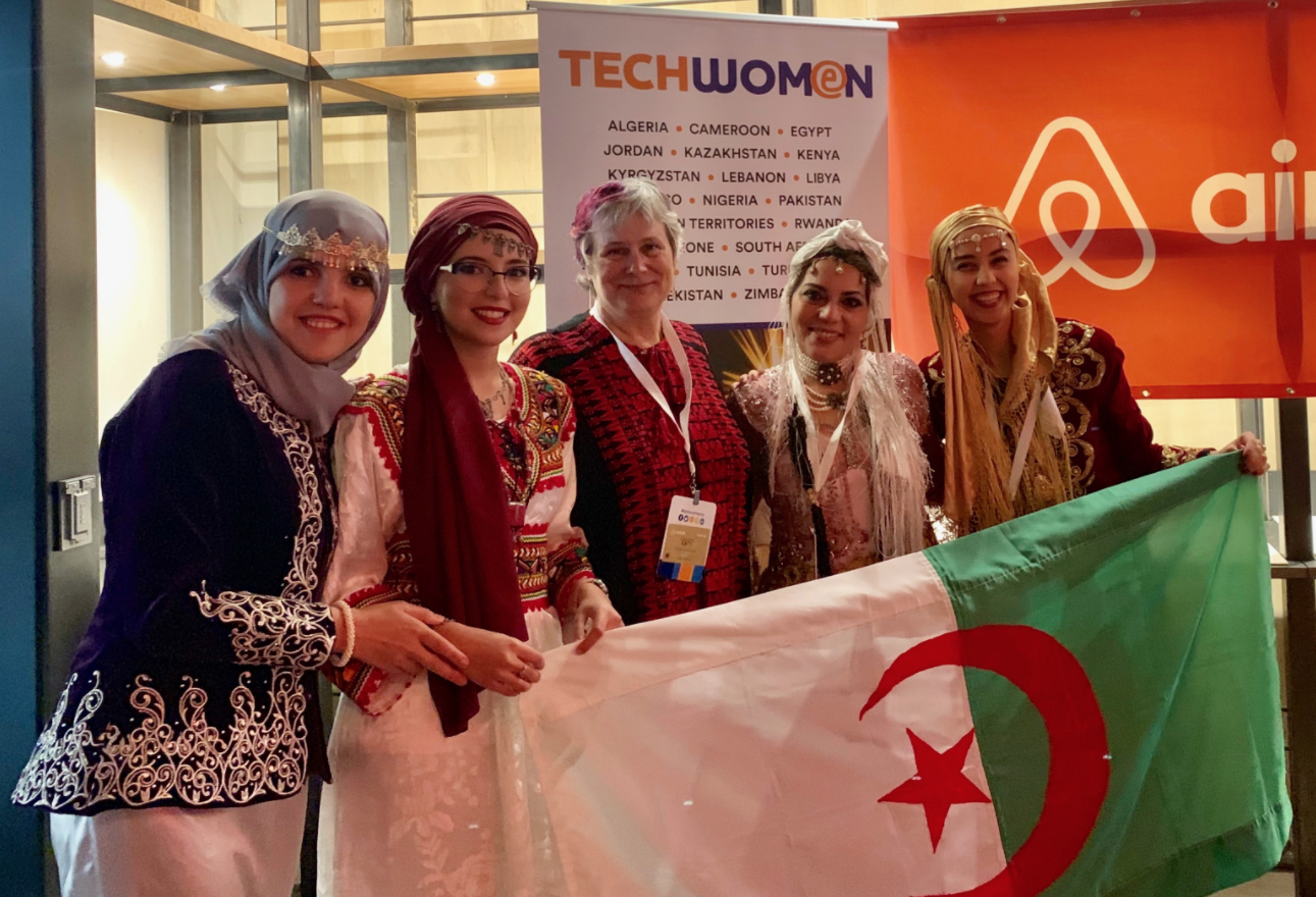 Katy Dickinson and TechWomen Team Algeria 2019